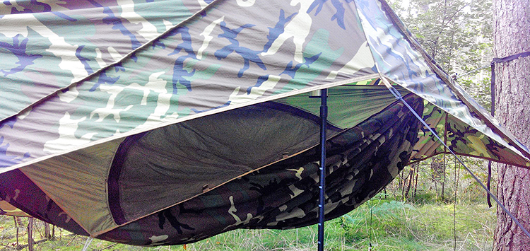 THE COLD WEATHER F.O.B CAMP HAMMOCK IN USE!