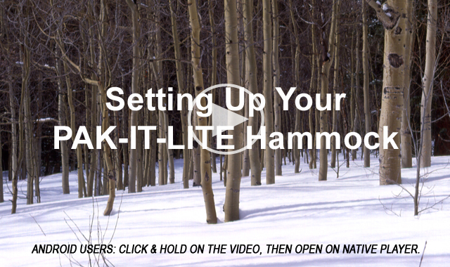 Setting up your PAK-IT-LITE hammock usig the NEW suport system