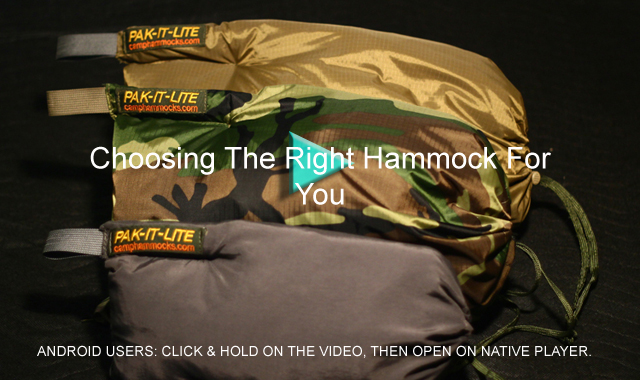 Choosing The Right Hammock For You