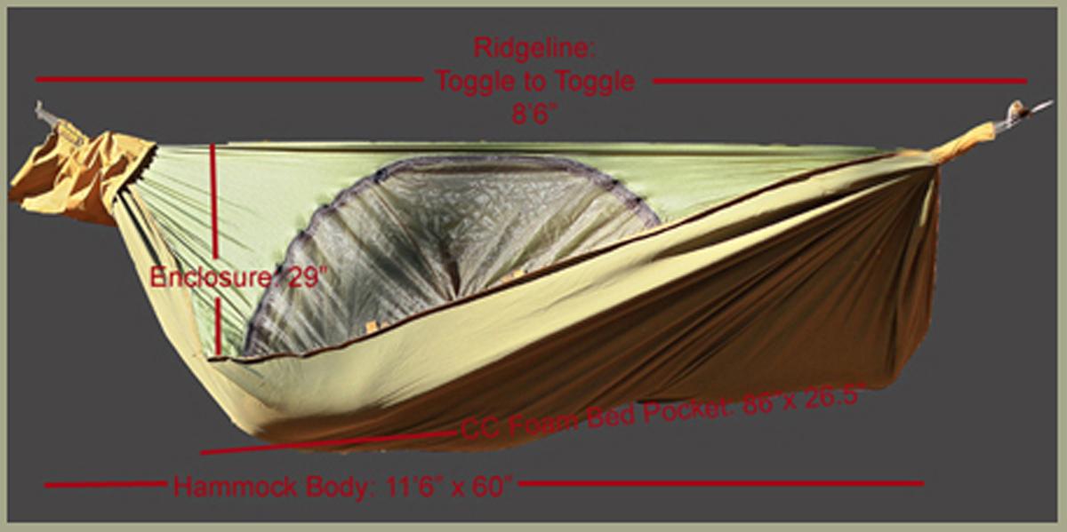 tarp best inside dimensions vertex camping standard hammock clark